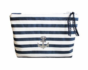 Cosmetic Bag, Small Bag, Nautical, Anchor