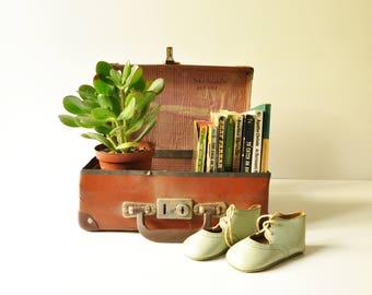 Reserved for Joana - Vintage Small Suitcase - Midcentury Luggage - Child Luggage