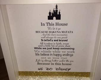 Personalised Disney quote poem frame