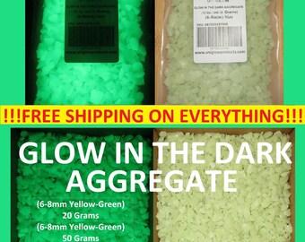 UniGlow's Glow In The Dark Aggregate. (YELLOW-GREEN) 6-8mm
