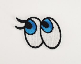 Big eye patch Eye applique patch Iron on patch