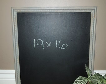 Grey Distressed Chalkboard 19x16 inches