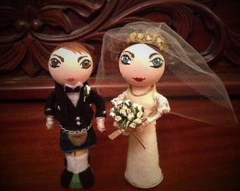 Peg Doll Wedding Gifts Toppers