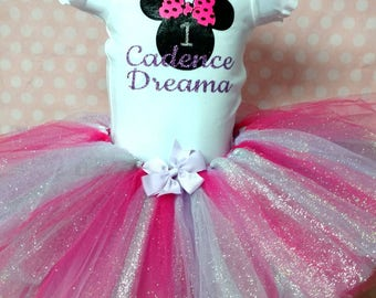 Personalized Minnie Mouse Tutu Outfit