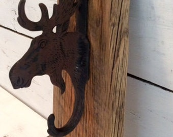 Man Cave Decor - Moose Decor - Moose Hook - Moose Man Cave - Canadian Decor - Cast Iron Moose Decor - Man Cave Accessories