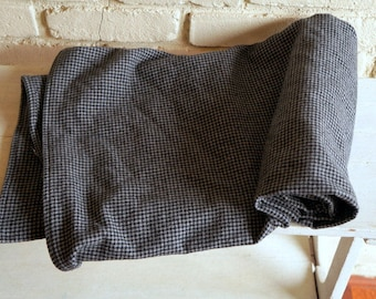 Flannel Houndstooth Baby Blanket - Gray and Black Baby Blanket - Receiving Blanket - Nursing Blanket - Baby Boy Shower Gift under 20