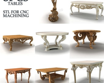 8 3d stl models Table Collection for CNC Router
