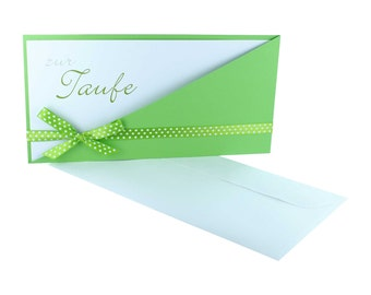 Baptims card + card + bag with bow and logo