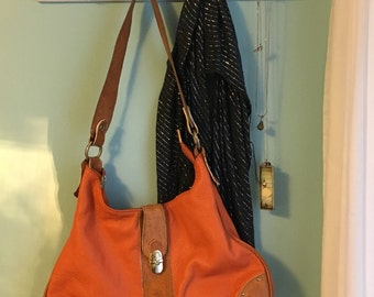 Vintage Hobo Leather Bag.  Made in Italy by Valentina