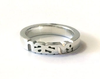 Nasty Woman Ring in Polished Silver | The Feminist Collection | Feminist AF | Women's Gifts | The Future is Female | Feminism Jewelry