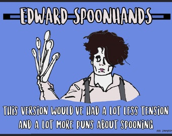 Edward Spoonhands Postcard