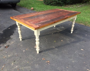 Farm Table made from Heart Pine