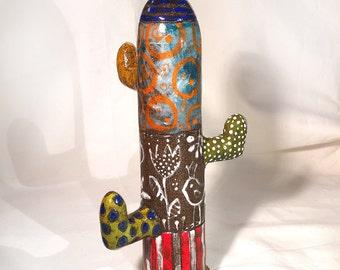 Cactus vase ceramic colors emails