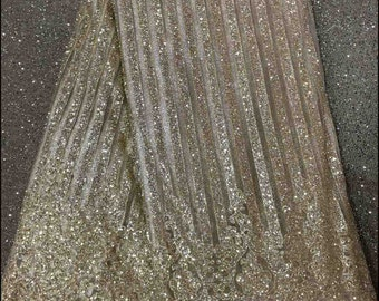Champagne gold Net lace