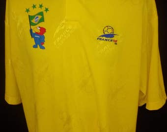 Rare collector vintage Footix France 1998 World Cup football Jersey