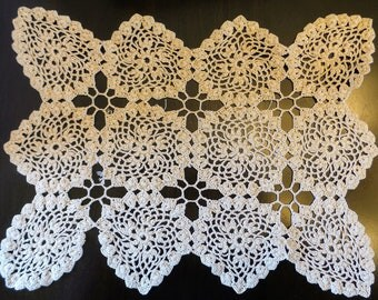 Handmade Rectangle Crocheted Doily