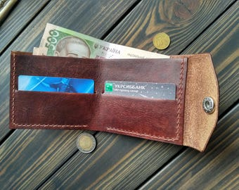 Mens wallet leather wallet minimalist wallet thin leather wallet small wallet personalized wallet mens gift for him credit card wallet