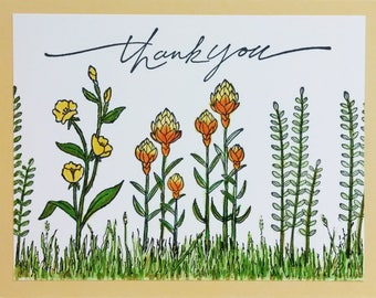 Stampin Up Thank You Card, Handmade Card, Stampin Up Card, Greeting Card, Floral Card