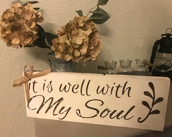 It is well wooden plaque