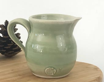 Handmade milk jug creamer pottery jug uk shop