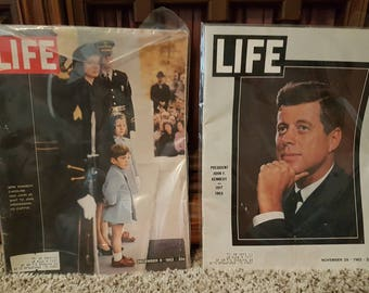 Vintage Set of JFK Assassination Time Magazines