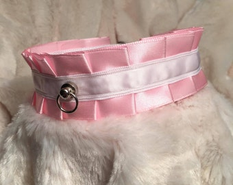 Pink and White Collar BDSM