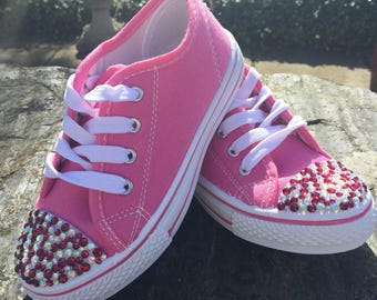 Girls Encrusted Trainers