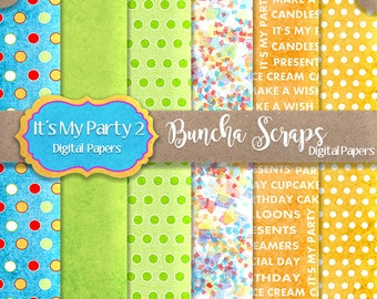 Digital Papers Background Papers It's My Party Part 2 6x6 For Card Making