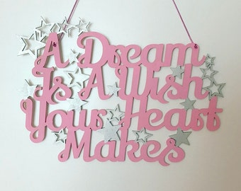 Cinderella Quote Wall Sign