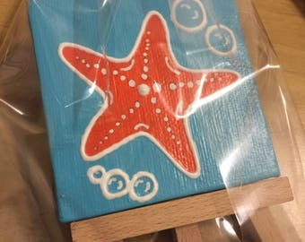 Miniature Starfish Painting with Miniature Easel