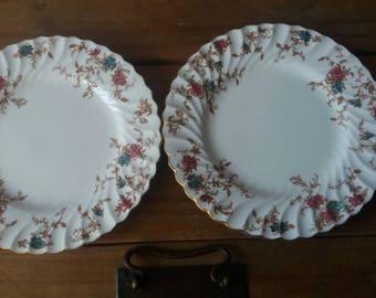Vintage Minton side plates, ancestral  diner plates, vintage plates, afternoon tea, Minton plate, 1950s plates