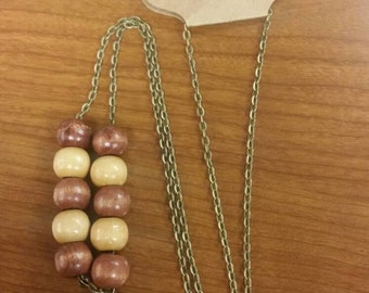 24 inch brass chain beaded necklaces