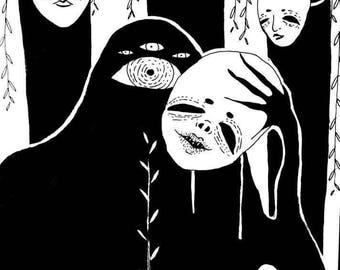 Artiste masqué print