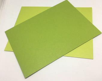 Lime Green Envelope and Flatcard set  / Card Stock  / Card Making  / Paper Stock / lime green envelopes / lime green flat notecards / notes