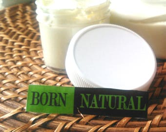 BORN NATURAL Whipped Shea Butter for Hair & Body 2 oz. Hair and Body Cream. Gifts for her. Choose Scent. Moisturizer. Dry skin relief.