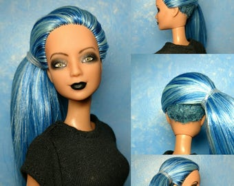Hadley - OOAK Repainted & Rerooted with undercut 1/6 scale, 12 inch fashion doll