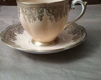 Queen Anne Fine Bone China teacup and saucer