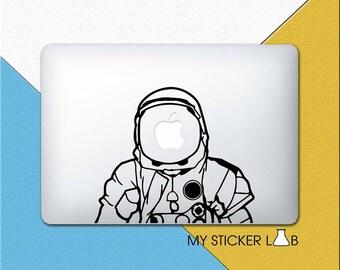 Astronaut MacBook Decals Astronaut MacBook Sticker Space Suit Sticker NASA Astronaut Helmet Apple Logo Helmet Vinyl Galaxy Rocket m326