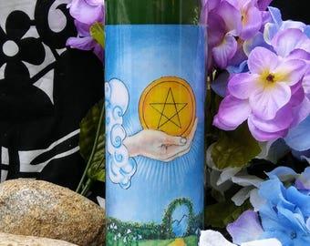 Green New Beginning Money Custom Candle - New Business, Employment - Hoodoo, Voodoo, Wicca, Pagan