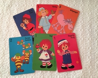 Vintage 1975 Raggedy Ann Card Game: Willywiggle