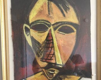 "Framed Picasso Copy ""Head of a Man"""