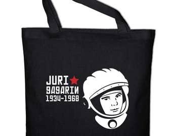 Yuri Gagarin astronaut Cosmonaut fabric cotton bag
