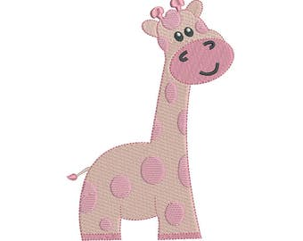 Giraffe Machine Embroidery Design, Baby Giraffe Embroidery, Fill Stitch Giraffe, Cute Giraffe, Baby Embroidery, Instant Download, No: F501-1