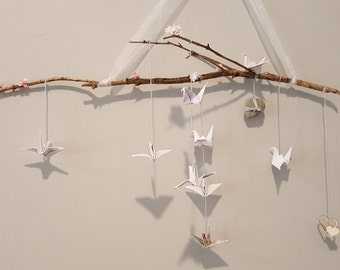 Origami baby mobile
