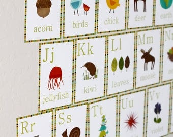 Children Flash Cards, Alphabet Flash Cards, Wall Art Flash Cards For Nursery, Nursery Flash Cards, Animal Flash Cards, Kids Flash Cards