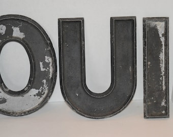 Vintage Metal Letters made by Adler Silhouette Letter Co.