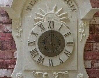 Decorative wall clock for the garden