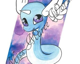 Dragonair watercolour A3 A4 PRINT Pokemon painting