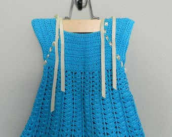 Sky blue Handmade Baby Dress