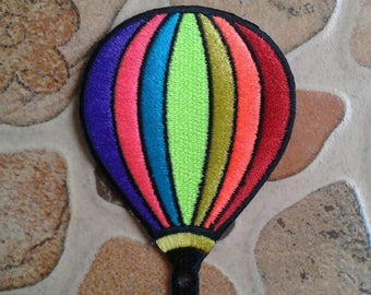 Rainbow balloon patch for kids.